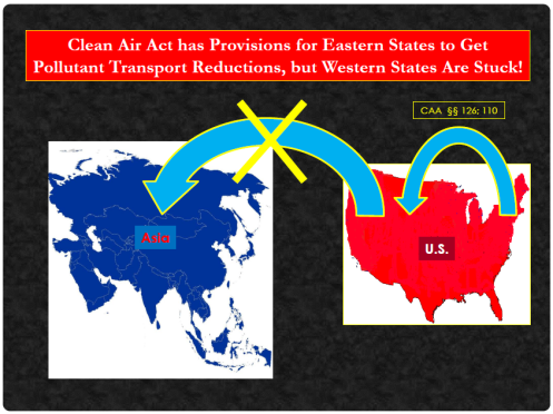 Eastern vs. Western States and Transported Pollution