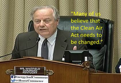 Whitfield and Clean Air Act Reform